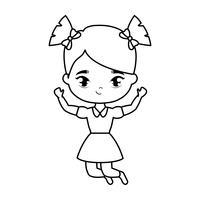personnage d'avatar mignon petite fille étudiante