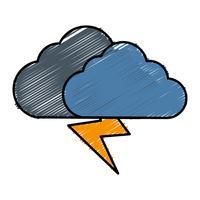 icône nuage et tonnerre