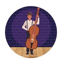 Caricature d'artiste musicien vecteur