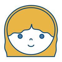icône de femme dessin animé