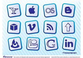 Icônes populaires des médias sociaux