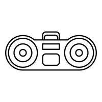icône du système stéréo boombox