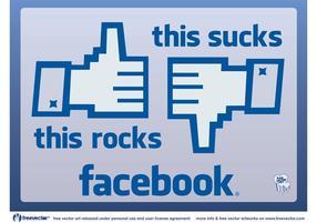 Facebook n'aime pas vecteur