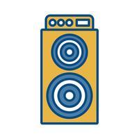 icône de haut-parleur vecteur