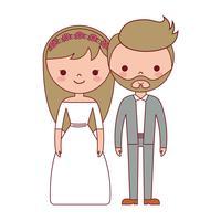 icône de couple de mariage