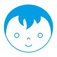 icône de visage de garçon de dessin animé