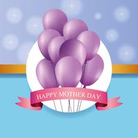 Carte de fête des mères heureuse vecteur