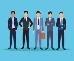 caricature d'hommes exécutifs