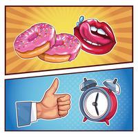 dessins animés pop art vecteur