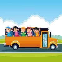 Caricatures pour la rentrée scolaire vecteur