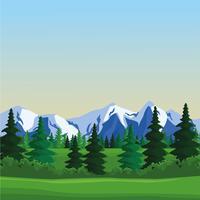 Paysage de paysage Wanderlust vecteur
