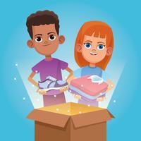 Don d'enfants et dessin de charité