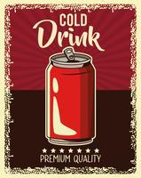affiche de boisson vintage vecteur