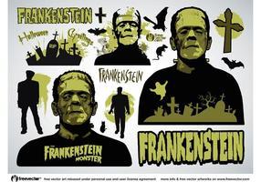 Vecteurs de frankenstein vecteur