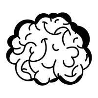 contour anatomie du cerveau humain à créatif et intellect vecteur