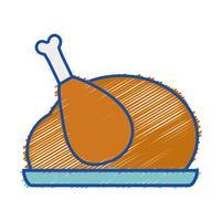 râpé délicieux poulet rôti