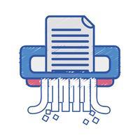 conception de machine de destructeur de papier de bureau