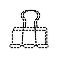 matériel de bureau de papier d'agrafe en métal de forme de pointillé vecteur