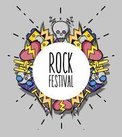 concert de festival festival de musique rock vecteur