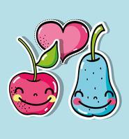 délicieux fruits tropicaux vecteur
