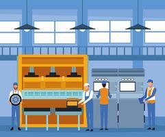 Ouvrier, usine automobile