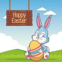 Joyeuses Pâques vecteur