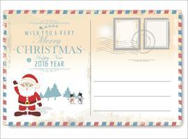 Carte postale vintage de Noël vecteur