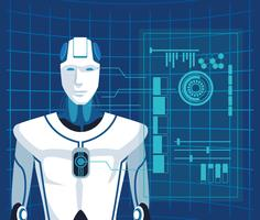 avatar robot humanoïde vecteur