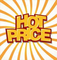 Fond de prix chaud