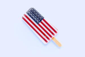Crème glacée drapeau réaliste coloré, illustration vectorielle