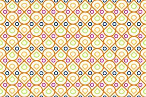 Modèle sans couture de coloré géométrique et cercle moderne sur fond blanc - illustration vectorielle vecteur