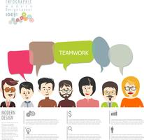 conception d'entreprise moderne concept infographique vecteur