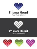 Glass Heart Love Logo, idéal pour votre image de marque