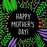 Cadre de fleur pour carte de fête des mères et autres, bon pour la conception d'impression vecteur