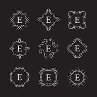modèle de logo alphabet royal