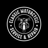 Insigne de moto et logo, bon pour l'impression vecteur