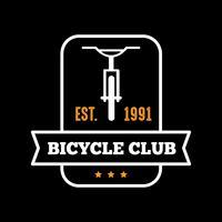 Badge et logo de bicyclette, bon pour l'impression