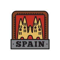 Collections d'insignes de pays, symbole du grand pays espagnol vecteur