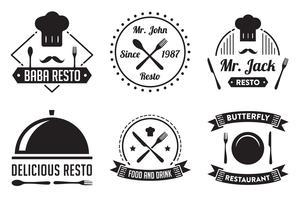 Badge et logo de restaurant, bon pour l'impression