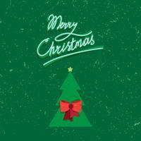 Lettrage manuscrit de texte vintage joyeux Noël
