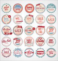 Ensemble de badges et étiquettes colorées vintage rétro