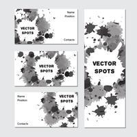Carte de visite d'art vecteur
