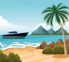 dessin de paysage de bord de mer