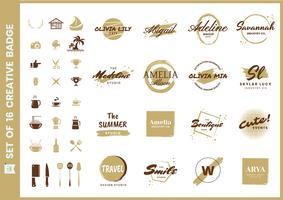 logo vectoriel rétro féminin pour bannière