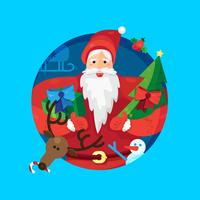 Père Noël vecteur