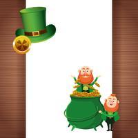 Saint Patrick Elfes Cartoons vecteur