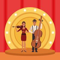 Couple d'artiste musicien