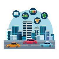 concept d'emplacement de service de voiture de taxi