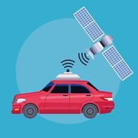 concept de service de voiture emplacement gps
