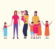 avatar du groupe familial vecteur